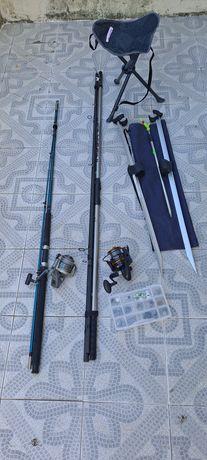 Equipamento de pesca completo
