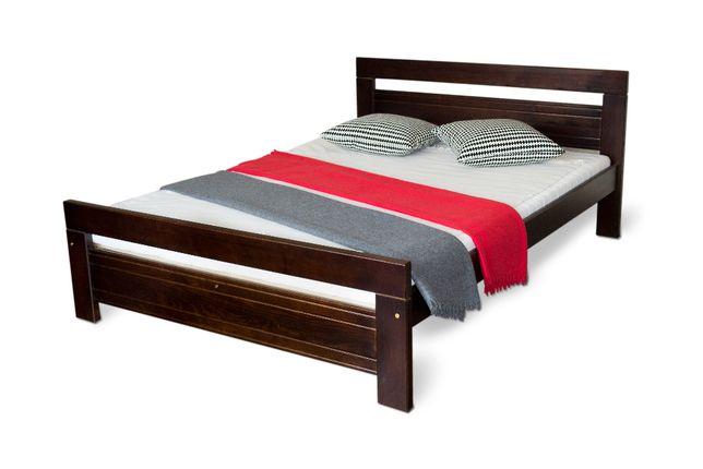 łóżko drewniane sosnowe Amor 140 orzech 4 kolory producent !!!