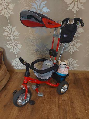 Детский 3-х колёсный велосипед с родительской ручкой Lexus Trike 007