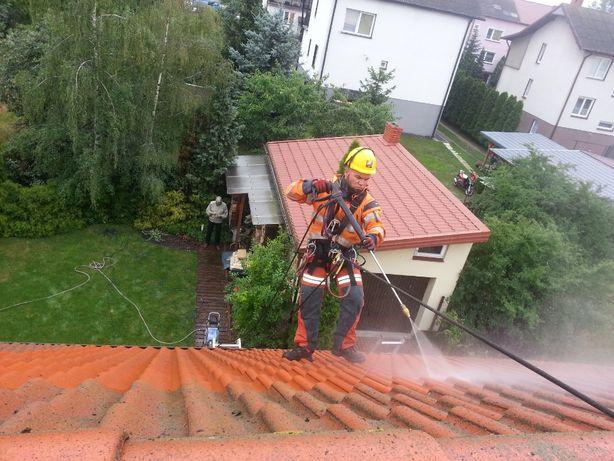 Mycie dachów, kostki brukowej i elewacji, czyszczenie ogrodzeń tarasów