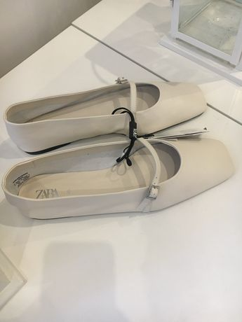 Buty Zara, nowe, skóra, 38