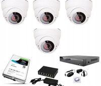 Zestaw 4 kamer IP 2Mpx sieciowych+rejestrator+ dysk 2TB +switch PoE