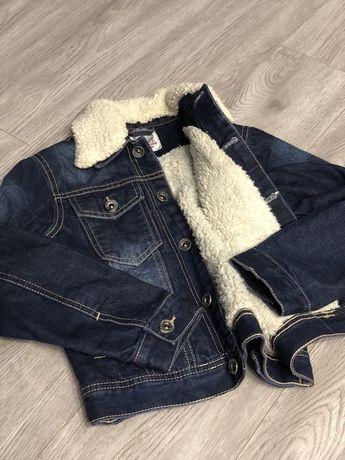 Куртка джинсова утеплена 122/128