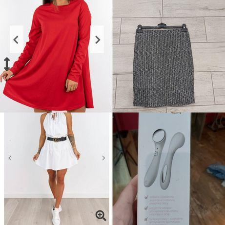 Zestaw ciuchow sukienki spodniczka masazer paka