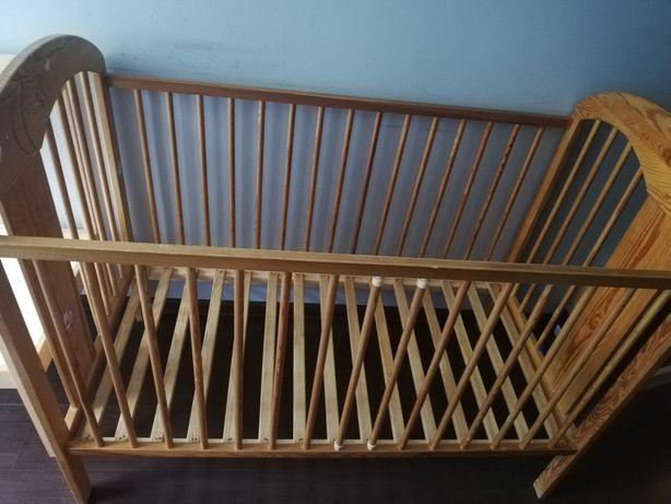 Drewniane łóżeczko-regulacja wysokości ważne do 6. 08.