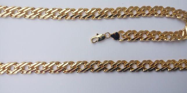 POZŁACANY KOMPLET,Łańcuszek,Bransoletka,biżuteria,złoto,750,18K,włochy