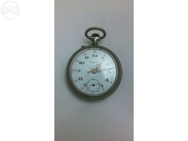 Relógio bolso sinai prata antigo vintage