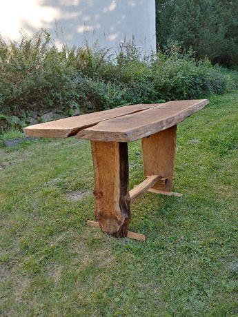 Stół debowy,bal 50mm, live edge
