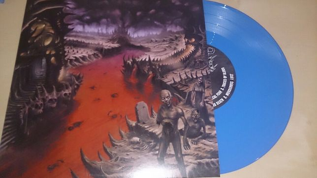 MORT DOUCE - The Valley of... metal of death - blue vinyl mint !!!