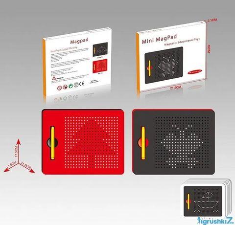 Магнитный планшет для рисования с ручкой mini Magpad 17х21 см.