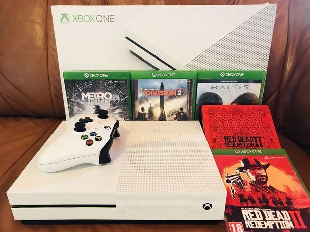 Xbox one s 1 tb 4 gry