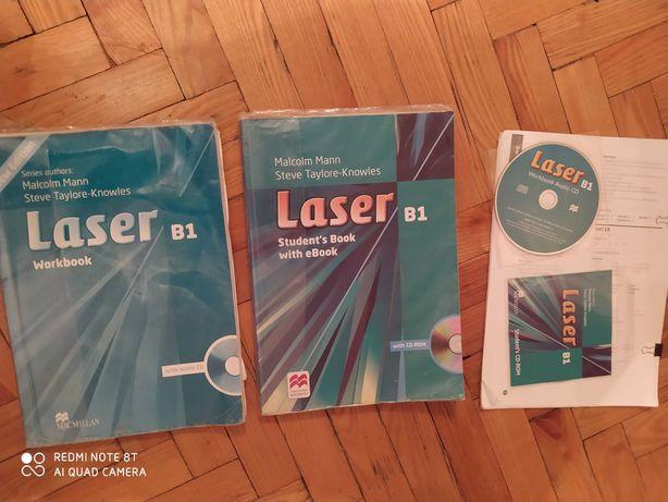 """Учебник и тетрадь по английскому языку """"Laser""""B1"""