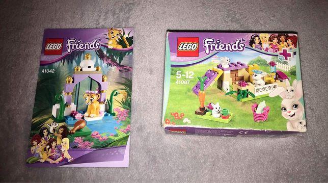 Lego friends zagroda dla kroliczkow + wybieg dla tygrysa