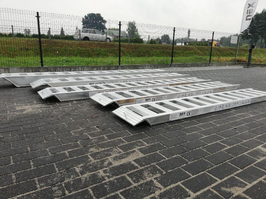 Najazdy aluminiowe 3T rampa Nowe najazdy 3 m różne rozmiary 3m / 3T Brzeziny - image 1