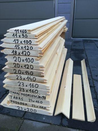 Podbitka, deska elewacyjna 15x90mm dł 2m,2.5m,3m,4m możliwy dowóz kl 2