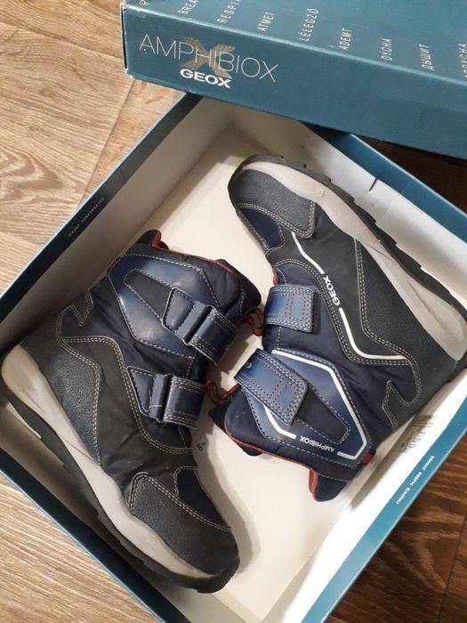 Сапоги.ботинки.термо.зимние Geox 34 Песчанка - изображение 1