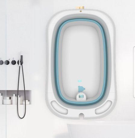 Складная ванночка со встроенным термометром для воды