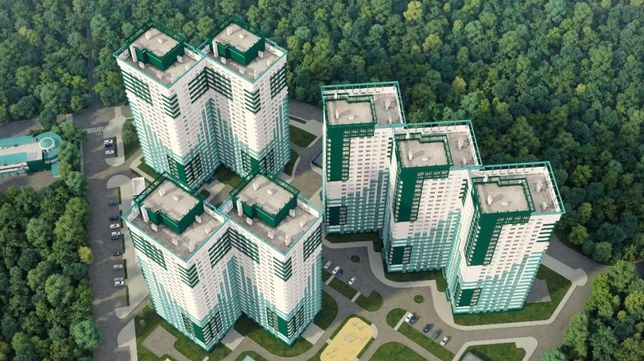 Просторная 2-комнатная квартира в районе парка Горького в новом доме