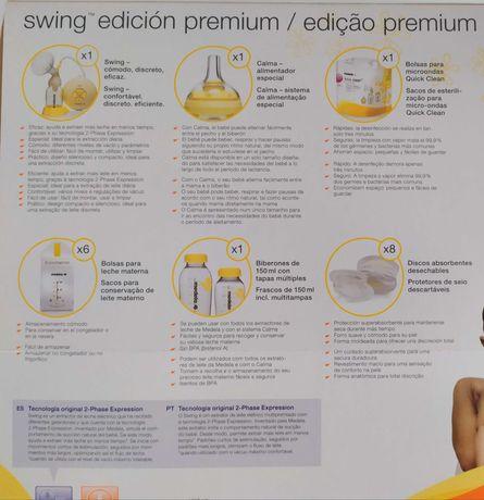 Bomba/extrator de leite medela swing edition premium