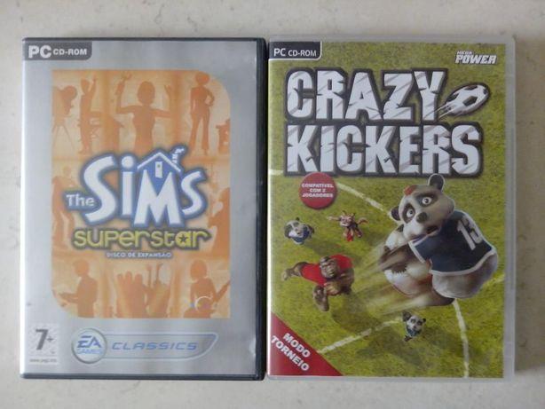 Dois jogos para PC - SIMS e Crazy Kickers