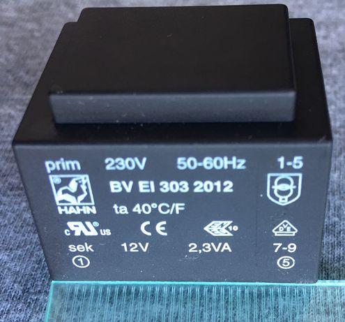 Трансформатор герметичный 12В 2,3Вт Hahn Elektrobau, 2,3VA