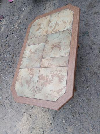 Ława kafelkowa kafle stół drewniany drewniana z kafelkami solidna