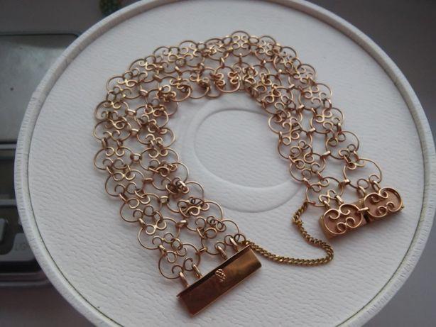Złota bransoleta -585 Krakowski wyrób