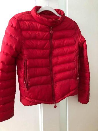 Czerwona, pikowana, kurtka damska