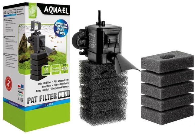 AQUAEL PAT MINI 2 wkłady filtr wewnętrzny do akwarium gęsta gąbka NOWY