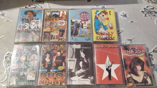 7 zestaw kaset magnetofonowych
