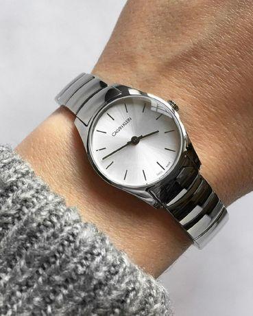 CALVIN KLEIN оригинал. В наличии женские часы серебро сталь браслет