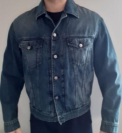 Casaco de ganga / jeans novo da Trussardi - tamanho XL/L