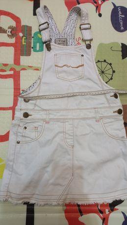 Белый джинсовый сарафан