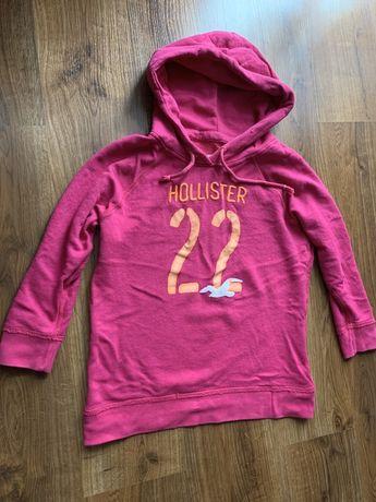 Bluza z kapturem Hollister S napis haftowany logo