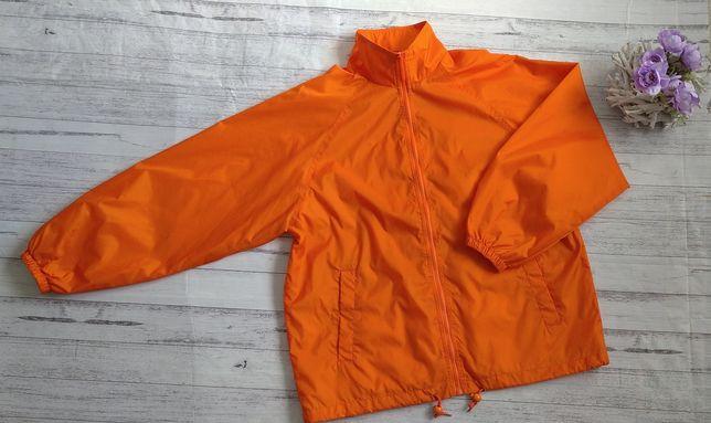 Lekka kurtka wiatrówka pomarańczowa Jingham sportowa do biegania rower
