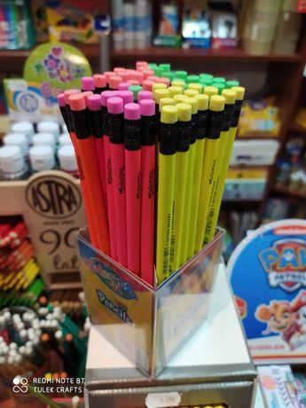 Ołówek  HB z gumką neon Colorino