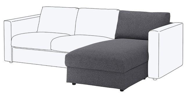 Capas Sofá Chaise Longue Vimle Cinzento Ikea