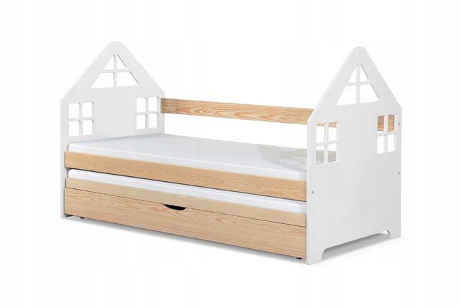 Nowe podwójne łóżko Domek! Wysuwane spanie! Drewno sosnowe