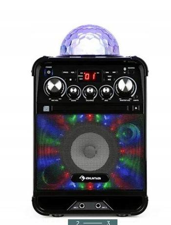Nowy Zestaw do karaoke AUNA Rockstar led, mikrofon. Kolumna Boombox