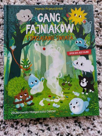 Książki Gang Fajniaków i sprzątanie świata.