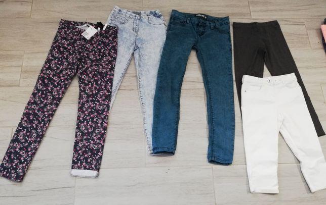 spodnie dziewczęce 128 - 140 cm