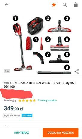 Odkurzacz elektryczny 230 Dirt Devil Dusty 360 DD1400