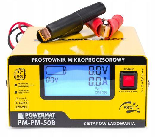 Prostownik MIKROPROCESOROWY Akumulatorowy 12V 24V