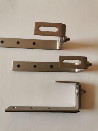 Uchwyt typ J fotowoltaika podklejony EPDM regulowany gotowy do montażu