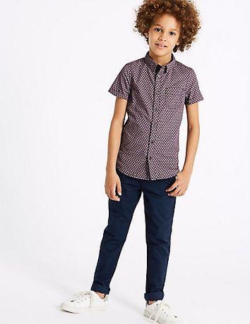 Темно синие тонкие брюки для мальчика от john rocha