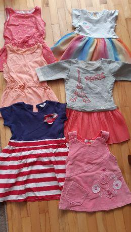 Sukienki dziewczęce roz.80-86