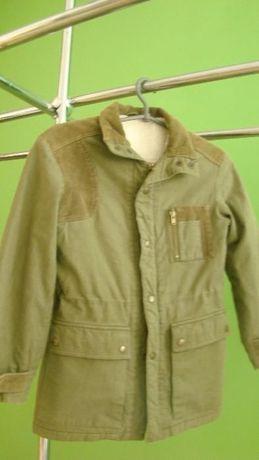 Теплая зимняя куртка для мальчика 7-8 лет
