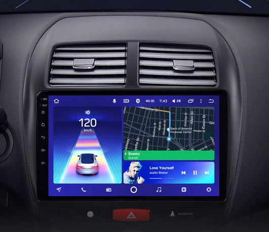 Radio nawigacja Mitsubishi ASX 2010=2016 Android WiFi Bluetooth GPS