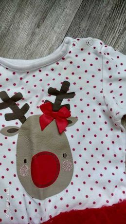 новогодний человечек оленёнок для девочки 68см