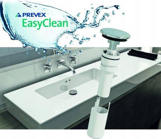 syfon umywalkowy chromowany klik-klak -EASY CLEAN PREVEX